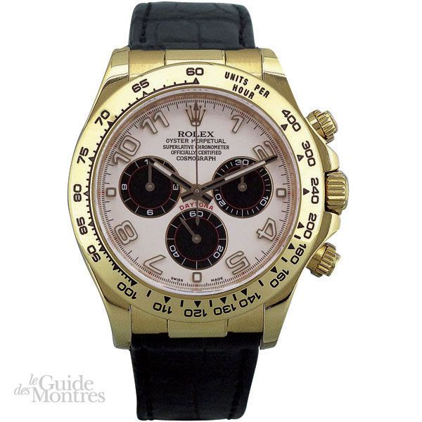 cote occasion rolex daytona r f 116518 le guide des montres. Black Bedroom Furniture Sets. Home Design Ideas
