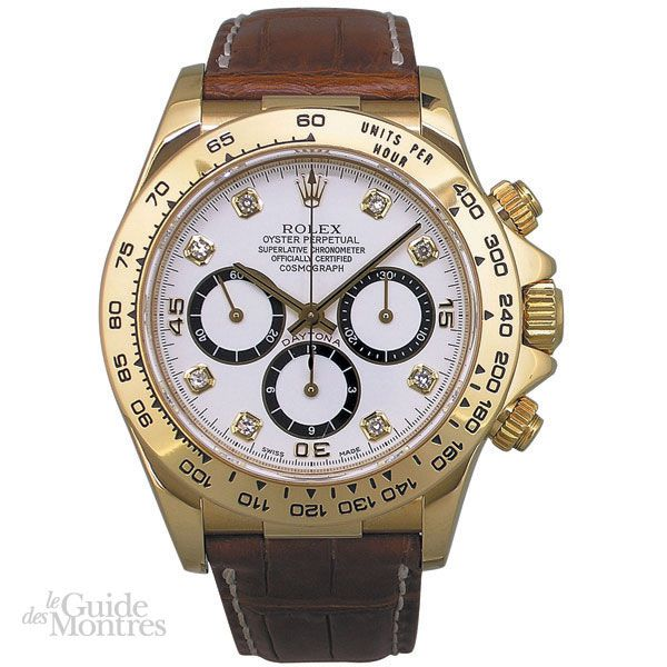 cote occasion rolex daytona r f 16518 index diamants circa 1995 le guide des montres. Black Bedroom Furniture Sets. Home Design Ideas