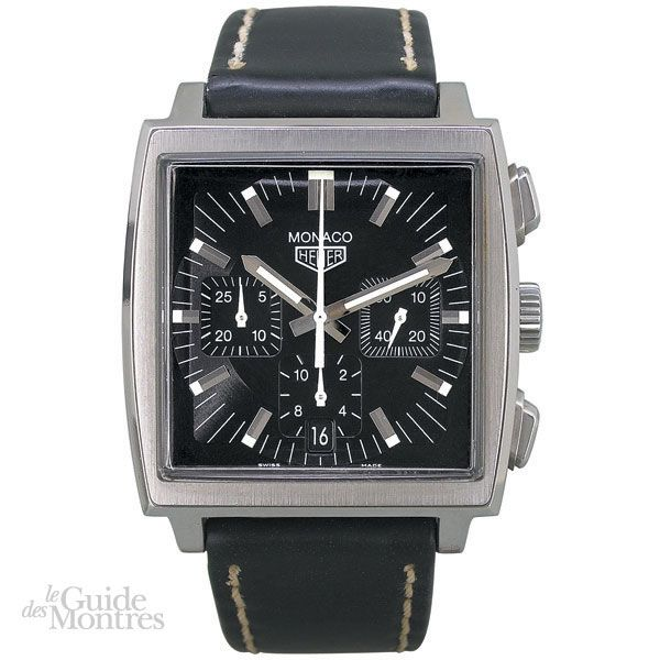 cote occasion tag heuer monaco chronographe le guide des montres. Black Bedroom Furniture Sets. Home Design Ideas