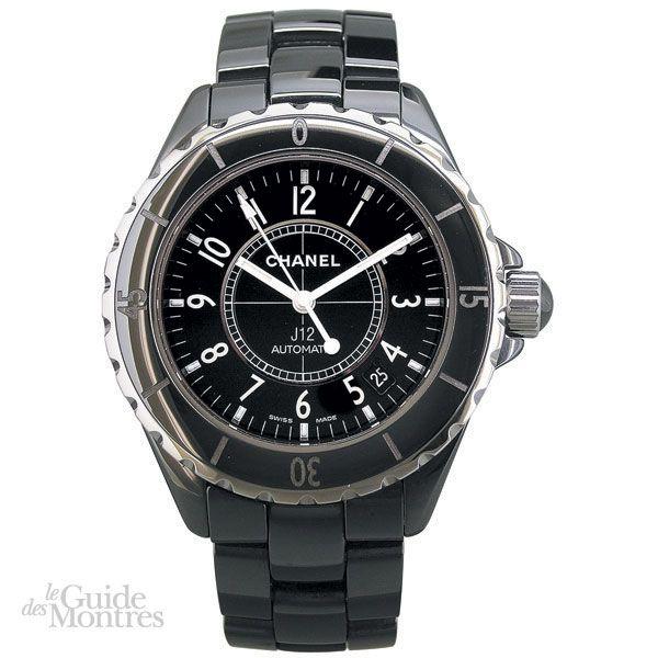 2b4ca2109a9 Chanel J12 Céramique Noire. Mouvement. mécanique à remontage automatique ...