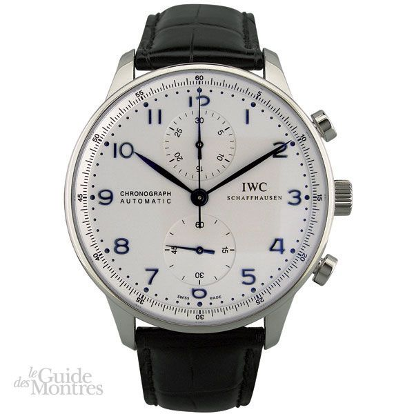 cote occasion iwc portugaise chronographe le guide des montres. Black Bedroom Furniture Sets. Home Design Ideas